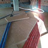 Dry screed with FiberTherm wood fiber insulation